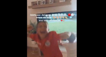 BRAVO TATA Thiago i Mathias Ibanez s mamom Mateom burno su proslavili pobjedu Zrinjskog