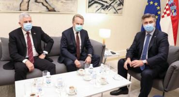 ZAGREB Počeo sastanak Plenkovića, Čovića, Izetbegovića
