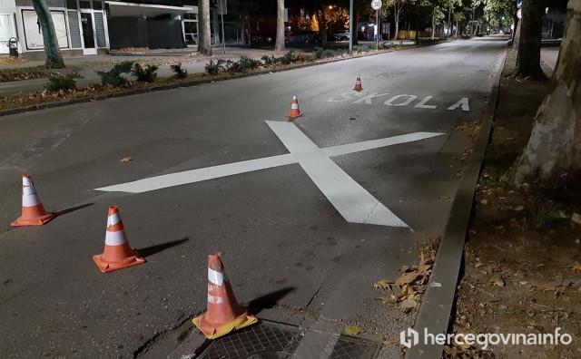 NIŠTA OD ONLINE NASTAVE Grad Mostar ipak mora krečiti asfalt