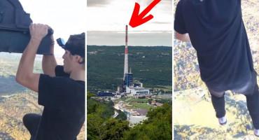 Tinejdžer se popeo na najvišu građevinu u Hrvatskoj i na rubu radio zgibove