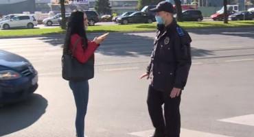KAZNA 500 MARAKA Pogledajte kako sarajevska policija nadzire poštivanje naredbe nošenja maski