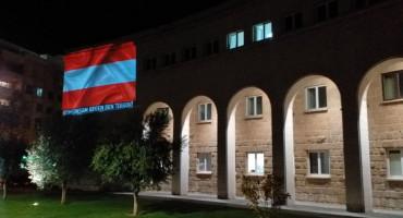 MOSTAR UZ BEČ Kosača u bojama zastave Austrije