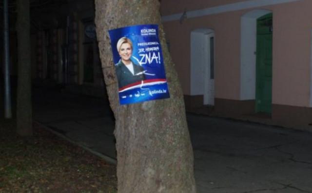 LJUBUŠKI Nema ljepljenja izbornih plakata na stabla, ograde, stupove javne rasvjete...