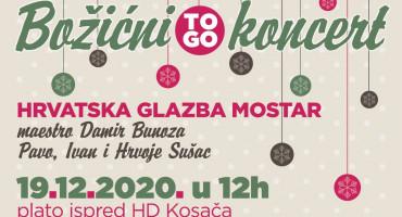 """Božićni """"To Go"""" koncert Hrvatske glazbe Mostar"""