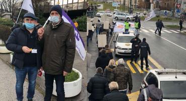 VLADA IH VRAĆA POSLODAVCU Sindikalisti BH Telecoma i HT-a Mostar na sarajevskim ulicama
