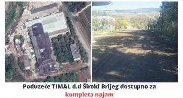 Poduzeće TIMAL d.d. Široki Brijeg dostupno za kompletan  najam