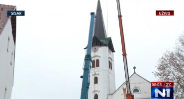 """SISAK Uklanja se toranj katedrale: """"Ako bi pao, uništio bi sve okolne zgrade"""""""
