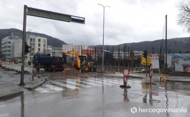 MOSTAR Ulica Ante Starčevića danas zatvorena za promet