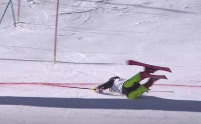 Filip Zubčić pao na ulasku u cilj u Chamonixu