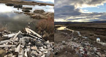 TOMISLAVGRAD Građevinski otpad istovaren uz rijeku