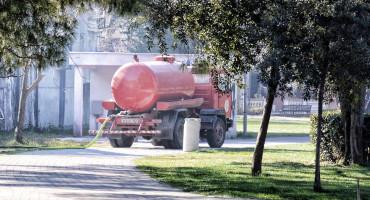 Mostarski vatrogasci intervenirali uz park Zrinjevac