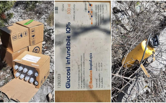 MOSTAR Odbačen medicinski otpad na cesti prema Podveležju