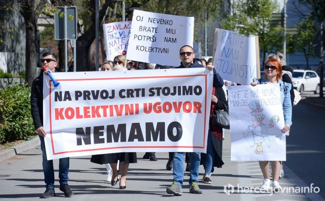 ZDRAVSTVO NE ODUSTAJE Ponovno su šetali, pozivaju na ostavke, a evo šta će ako bude pravomoćno da je štrajk nezakonit