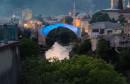 Stari most večeras osvijetljen u plavo