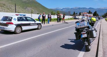 MOSTAR Sudar bicikla i motocikla, ozlijeđen maloljetnik