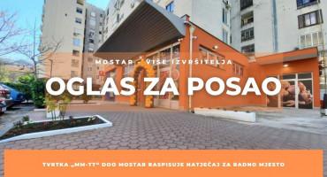 """Tvrtka """"MM-TT"""" d.o.o. Mostar raspisuje natječaj za radno mjesto"""