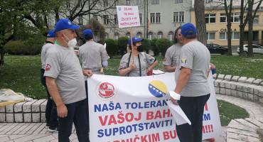 Članovi sindikata praznik rada obilježili prosvjedima