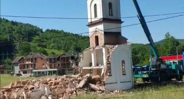 KONJEVIĆ POLJE Srušena crkva u dvorištu Fate Orlović