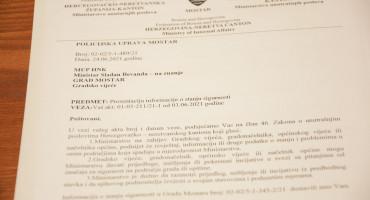 SIGURNOST U MOSTARU Policija podnijela pismeno izvješće o sigurnosti u gradu, kažu da usmeno nisu dužni
