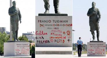 SAZNALO SE 34-godišnjakinja išarala spomenik Tuđmanu