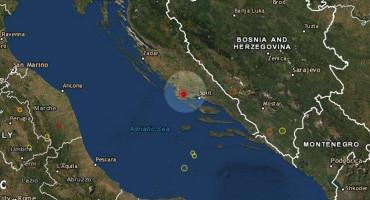 TRESLA SE DALMACIJA Potres jačine 4,7 stupnja prema Richteru pogodio Šibenik