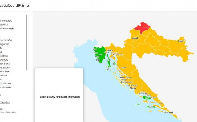 VELIKI INTERES Prije putovanja u Hrvatsku pogledajte mapu o stanju s koronom