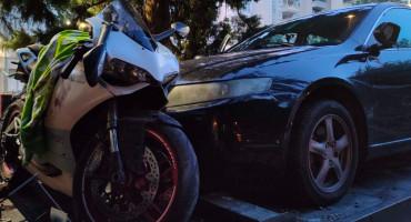 PROMETNA NESREĆA NA M-17 Motociklist teško ozlijeđen nakon sudara s automobilom