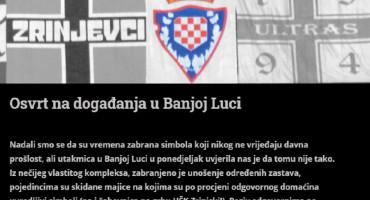 U DODIKA Ultrasima zabranjene zastave, te skidane majice sa šahovnicom