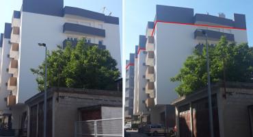 NOVA ZGRADA Počelo pilanje ilegalnog kata, upitna dozvola za cijelu zgradu