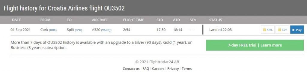 Zrakoplov je sletio ipak u Zadar