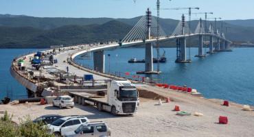 NA GRADILIŠTU 1277 RADNIKA Pelješki most i pristupne ceste rade se punom parom