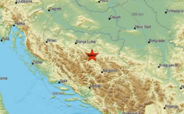 Snažan potres zatresao Bosnu