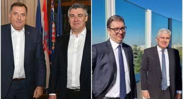 ZAGREB I BEOGRAD Dodik kod Milanovića, Čović kod Vučića
