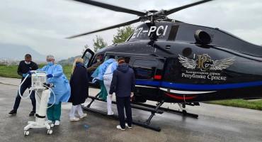 Trudnica koja je helikopterom prebačena u Zagreb stabilno